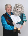Mr. T and the Moses puppet carrying 10 Commandments