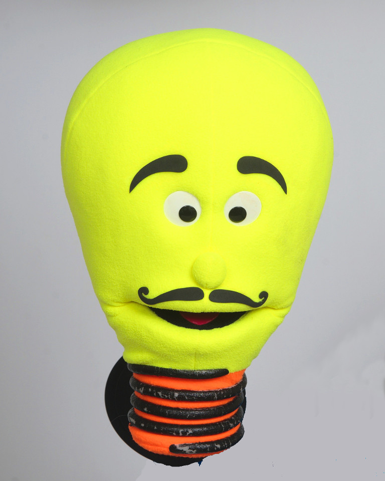 The lightbulb puppet