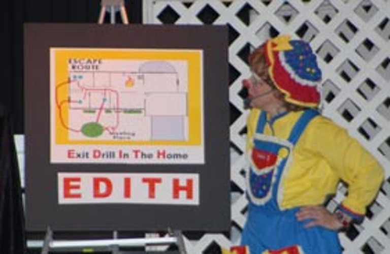 Rainbow teaches Exit Drill In The Home