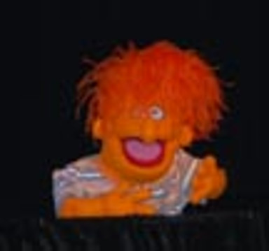 An orange puppet from the show