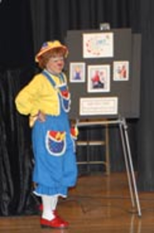 Rainbow presents a fire safety lesson